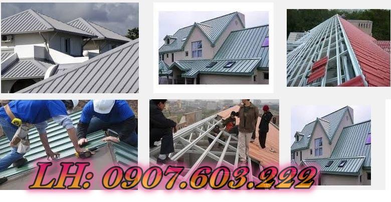 Thi công mái tôn đẹp tại bình tân, lắp đặt mái tôn nhà, lợp mái tôn chống nóng.