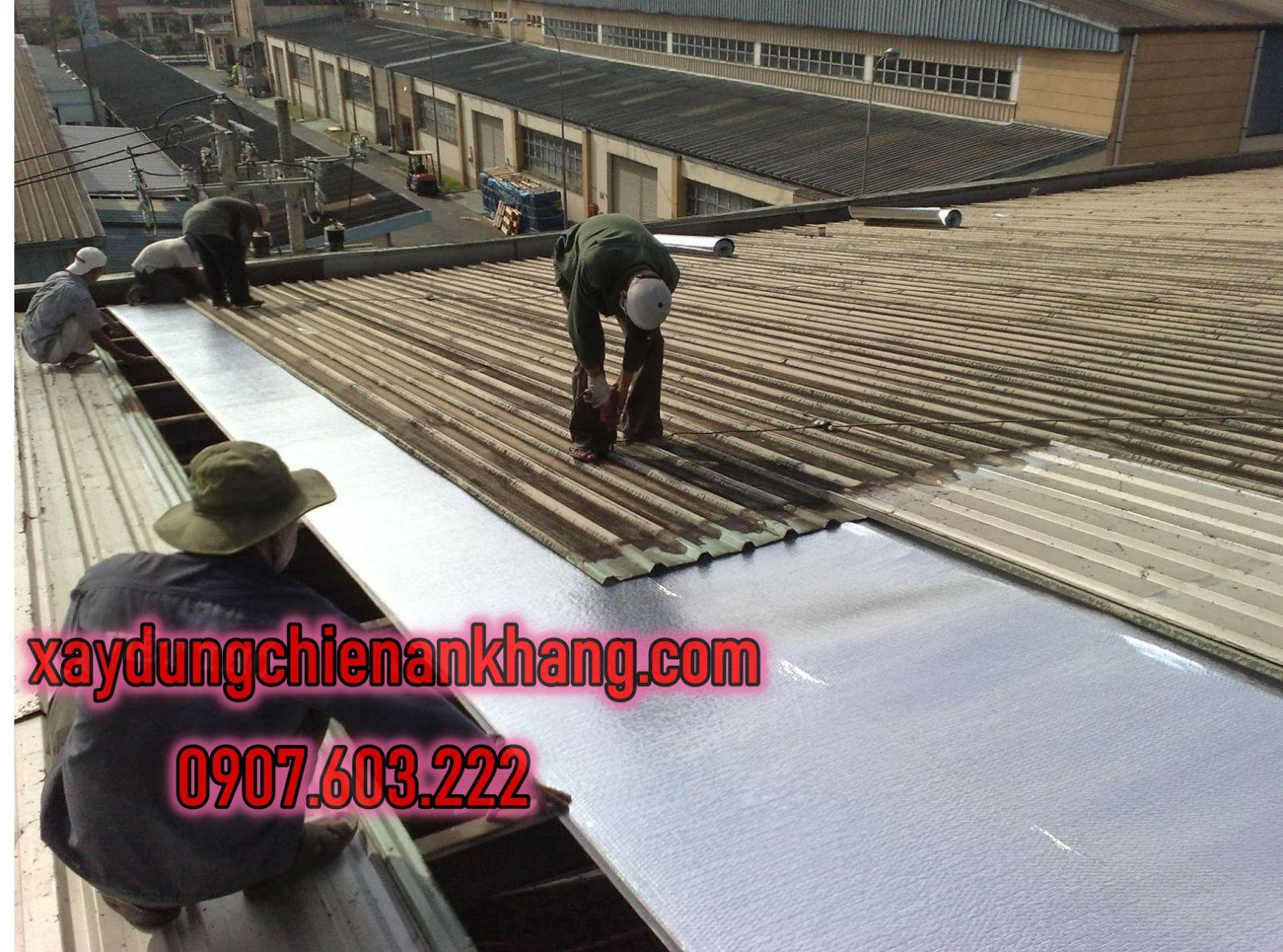 dịch vụ lợp mái tôn nhà xưởng, gia công lại mái tôn, chống nóng mái tôn nhà,