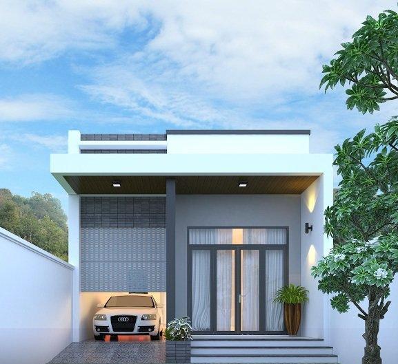mẫu nhà cấp 4 ở nông thôn đơn giản nhất. thiết kế nhà cấp 4 đẹp giá rẻ.