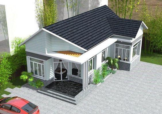 Xây nhà cấp 4 giá rẻ, thiết kế xây dựng nhà cấp 4 đẹp