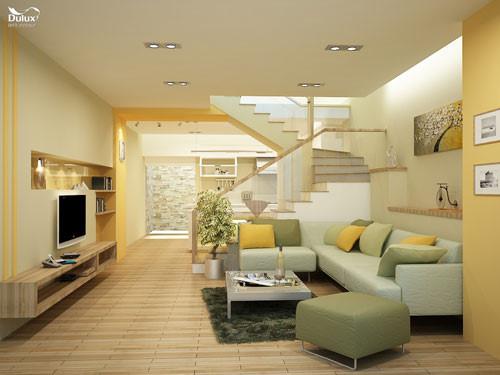 tư vấn sơn phòng khách đẹp, chọn màu sơn cho phòng khách hợp phong thủy.