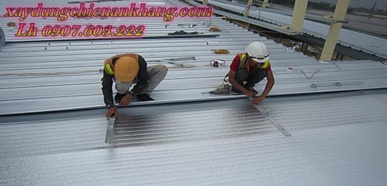 dịch vụ lợp mái tôn chống nóng, mái tôn cách nhiệt, tôn xốp, vòm tôn sân thượng. chống thấm dột tôn