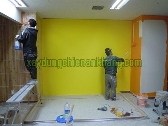Dịch vụ sơn lại nhà văn phòng đẹp , giá rẻ