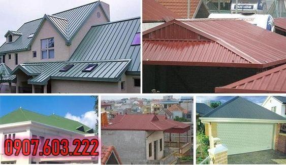 dịch vụ lợp mái tôn nhà đẹp tại tân phú, lợp mái tôn giả ngói, mái tôn cách nhiệt, thi công mái tôn kiểu truyền thống, tôn olympic.